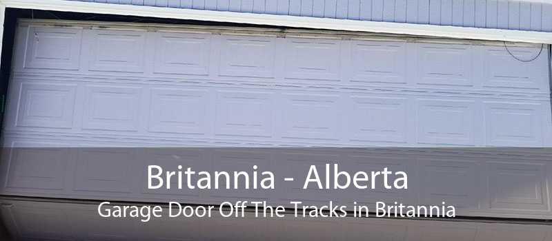 Britannia - Alberta Garage Door Off The Tracks in Britannia