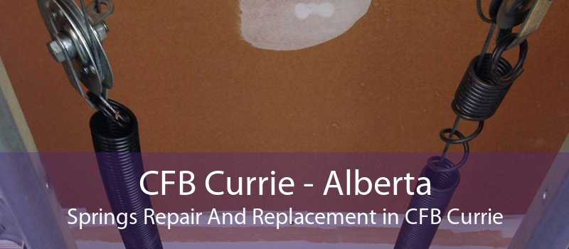 CFB Currie - Alberta Springs Repair And Replacement in CFB Currie
