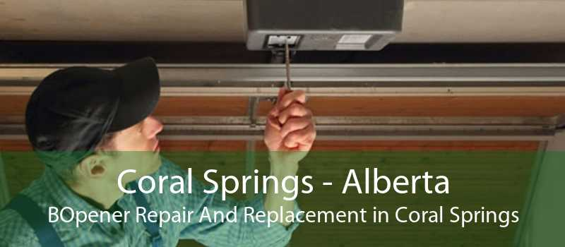 Coral Springs - Alberta BOpener Repair And Replacement in Coral Springs