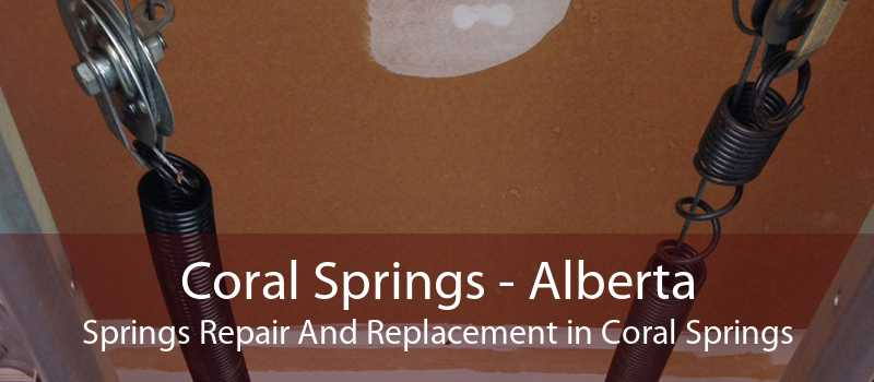 Coral Springs - Alberta Springs Repair And Replacement in Coral Springs