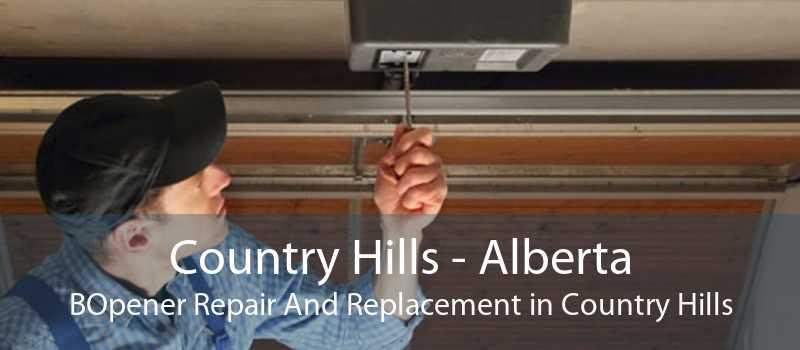 Country Hills - Alberta BOpener Repair And Replacement in Country Hills