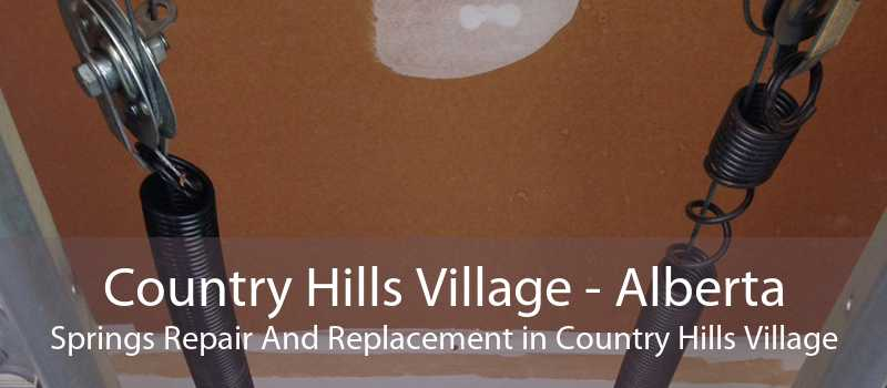 Country Hills Village - Alberta Springs Repair And Replacement in Country Hills Village