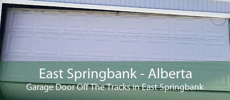 East Springbank - Alberta Garage Door Off The Tracks in East Springbank