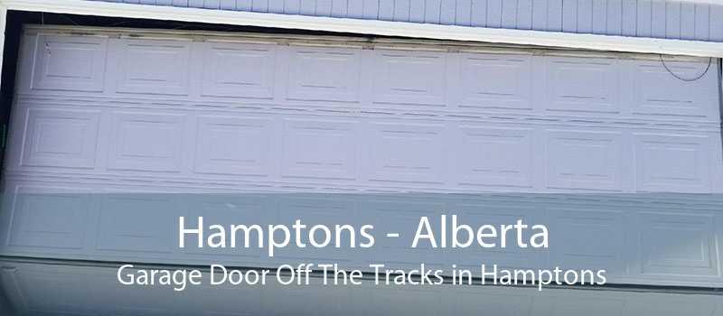 Hamptons - Alberta Garage Door Off The Tracks in Hamptons