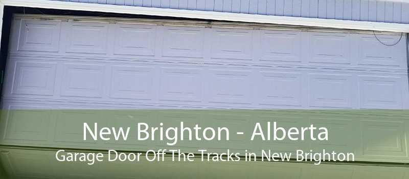 New Brighton - Alberta Garage Door Off The Tracks in New Brighton